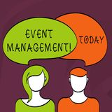 Word writing text Event Management. Business concept for Special Occasion Schedule Organization Arrange Activities. Word writing text Event Management. Business stock illustration