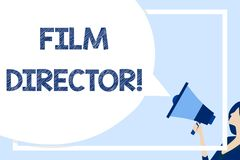 Word writing text Film Director. Business concept for a demonstrating who is in charge of making and directing a film. Word writing text Film Director. Business vector illustration