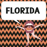 Word writing text Florida. Business concept for State in southeastern region of United States Sunny place Beaches.  royalty free illustration