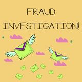 Word writing text Fraud Investigation. Business concept for process of determining whether a scam has taken place Many vector illustration