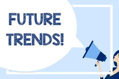 Word writing text Future Trends. Business concept for forecasts affecting technology customers and business Huge Blank. Word writing text Future Trends. Business stock illustration
