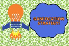 Word writing text Gamification Strategy. Business concept for use Rewards for Motivation Integrate Game Mechanics Top. Word writing text Gamification Strategy royalty free illustration