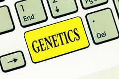 Word writing text Genetics. Business concept for study of heredity and the variation of inherited characteristics.  royalty free stock photography