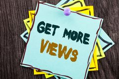 Word, writing, text Get More Views. Business concept for More Traffic Leads Online Page Promotion Popularity Traffic written on B. Word, writing, text Get More stock photography