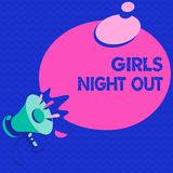 Word writing text Girls Night Out. Business concept for Freedoms and free mentality to the girls in modern era.  royalty free illustration