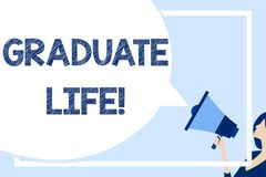 Word writing text Graduate Life. Business concept for condition or a status a demonstrating after finishing academic. Word writing text Graduate Life. Business royalty free illustration