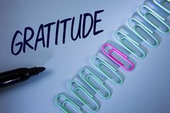 Word writing text Gratitude. Business concept for Quality of being thankful Appreciation Thankfulness Acknowledge written on Plain. Word writing text Gratitude Royalty Free Stock Image