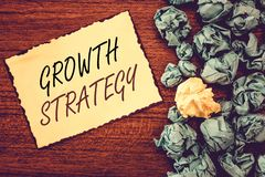 Word writing text Growth Strategy. Business concept for Strategy aimed at winning larger market share in shortterm.  royalty free stock images