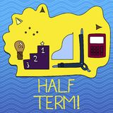 Word writing text Half Term. Business concept for Short holiday in the middle of the periods school year is divided. Word writing text Half Term. Business photo stock illustration