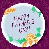 Word writing text Happy Father S Is Day. Business concept for celebration honoring dads and celebrating fatherhood Cutouts of royalty free illustration