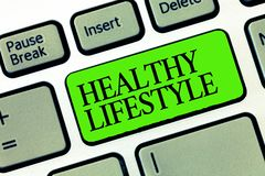 Word writing text Healthy Lifestyle. Business concept for Live Healthy Engage in physical activity and exercise stock photos