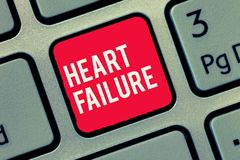 Word writing text Heart Failure. Business concept for Failure of the heart to function well Unable to pump blood.  stock photo