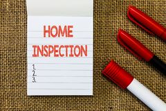 Word writing text Home Inspection. Business concept for Examination of the condition of a home related property.  royalty free stock image