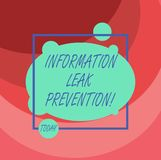 Word writing text Information Leak Prevention. Business concept for Inhibiting critical information to outflow. Asymmetrical Blank Oval photo Abstract Shape stock illustration
