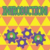 Word writing text Introduction. Business concept for First part of a document Formal presentation to an audience. Word writing text Introduction. Business royalty free illustration