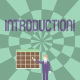 Word writing text Introduction. Business concept for First part of a document Formal presentation to an audience. Word writing text Introduction. Business photo royalty free illustration