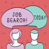 Word writing text Job Search. Business concept for act of looking for employment due to unemployment underemployment. Word writing text Job Search. Business stock illustration