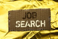 Word writing text Job Search. Business concept for Find Career Vacancy Opportunity Employment Recruitment Recruit written on tear. Word writing text Job Search royalty free stock image