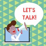 Word writing text Let S Is Talk. Business concept for suggesting in the beginning of a conversation on the topic Man. Word writing text Let S Is Talk. Business royalty free illustration