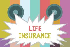Word writing text Life Insurance. Business concept for Payment of death benefit or injury Burial or medical claim vector illustration