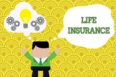 Word writing text Life Insurance. Business concept for Payment of death benefit or injury Burial or medical claim. Word writing text Life Insurance. Business royalty free illustration