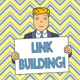 Word writing text Link Building. Business concept for process of acquiring hyperlinks from other website to your own. Word writing text Link Building. Business stock illustration