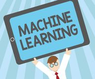 Word writing text Machine Learning. Business concept for give computers the ability to be taught with data stock illustration
