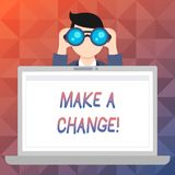 Word writing text Make A Change. Business concept for New Goals Opportunities Different Approach. Word writing text Make A Change. Business photo showcasing New vector illustration