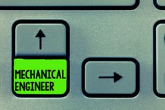 Word writing text Mechanical Engineer. Business concept for Applied Engineering Discipline for Mechanical System.  royalty free illustration