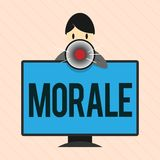 Word writing text Morale. Business concept for enthusiasm and discipline of person or group at particular time