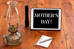 Word writing text Mother S Day. Business concept for day of year where mothers are particularly honoured by children royalty free stock images
