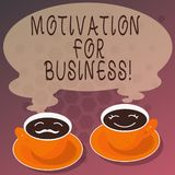 Word writing text Motivation For Business. Business concept for Desire and energy be continually committed to a job Sets