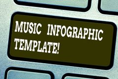 Word writing text Music Infographic Template. Business concept for representation of information in a graphic format stock photos