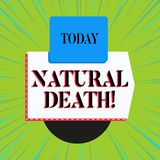 Word writing text Natural Death. Business concept for occurring in the course of nature and from natural causes. Word writing text Natural Death. Business photo royalty free illustration