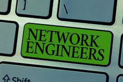 Word writing text Network Engineers. Business concept for Technology professional Skilled in computer system.  stock images