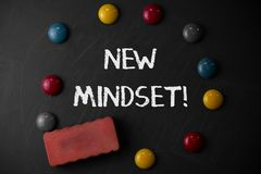 Word writing text New Mindset. Business concept for mental attitude of demonstratings responses to certain situations. Word writing text New Mindset. Business royalty free stock photography