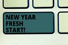 Word writing text New Year Fresh Start. Business concept for Motivation inspiration 365 days full of opportunities. Keyboard key Intention to create computer vector illustration