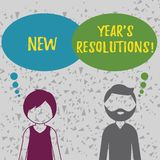 Word writing text New Year S Resolutions. Business concept for Goals Objectives Targets Decisions for next 365 days. Word writing text New Year S Resolutions royalty free illustration