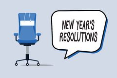 Word writing text New Year s is Resolutions. Business concept for Wishlist List of things to accomplish or improve.  royalty free illustration