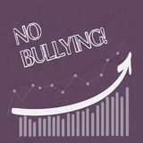 Word writing text No Bullying. Business concept for stop aggressive behavior among children power imbalance Combination. Word writing text No Bullying. Business royalty free illustration