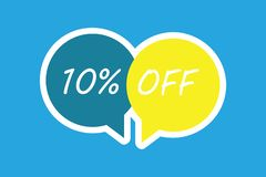 Word writing text 10 Off. Business concept for Discount of ten percent over regular price Promotion Sale Clearance.  vector illustration