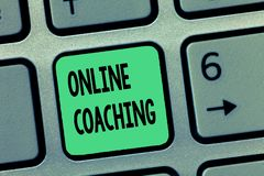 Word writing text Online Coaching. Business concept for Learning from online and internet with the help of a coach.  royalty free stock image