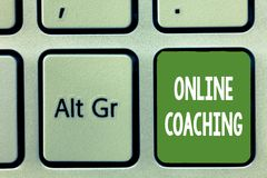 Word writing text Online Coaching. Business concept for Learning from online and internet with the help of a coach.  stock photography