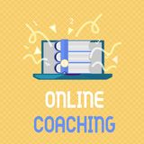 Word writing text Online Coaching. Business concept for Learning from online and internet with the help of a coach.  stock illustration