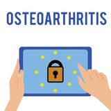 Word writing text Osteoarthritis. Business concept for Degeneration of joint cartilage and the underlying bone.  stock illustration