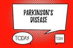Word writing text Parkinson s is Disease. Business concept for nervous system disorder that affects movement.  vector illustration