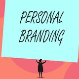 Word writing text Personal Branding. Business concept for Practice of People Marketing themselves Image as Brands Back. Word writing text Personal Branding stock illustration