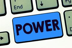 Word writing text Power. Business concept for ability capacity to do something or act in particular way Electricity.  stock photos