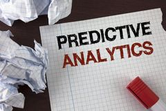 Word writing text Predictive Analytics. Business concept for Method to forecast Performance Statistical Analysis written on Tear N. Word writing text Predictive Stock Photo