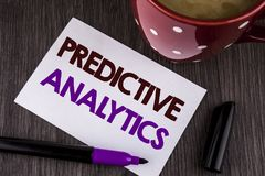 Word writing text Predictive Analytics. Business concept for Method to forecast Performance Statistical Analysis written on White. Word writing text Predictive Stock Image